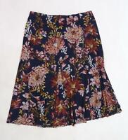 Nutmeg Womens Blue Floral  Trumpet Skirt Size 16