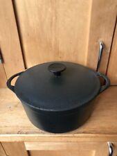 Vintage French Cousances Cast Iron Casserole Dish