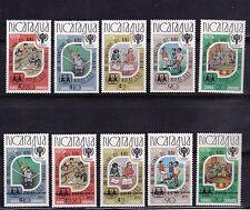 1979-80 Nicragua Year of the Child AERO Mi2130-2133, Mi110a, SG2243-MS2248