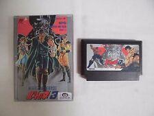 HOKUTO NO KEN 3 -- Famicom, NES. Japan game. Work fully. 10635