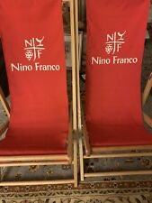 Nino Franco Folding Lounge Chairs - Telescope Casual