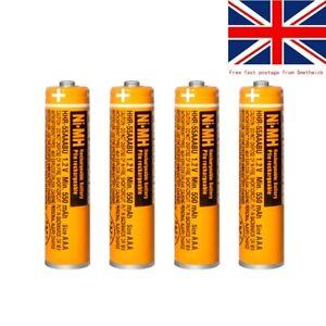 Panasonic 1.2V NI-MH Rechargeable AAA HHR 550MAH Home Cordless Phones Batteries