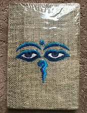 Hemp Handmade Himalayan Eco-friendly Eyes of Buddha Embroidered  Journal Book