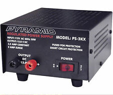 Ps3Kx 12 Volt Dc Power Supply 2.5/3 Amp 13.8-Volt & Overload Protection Pyramid