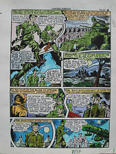 JACK KIRBY Joe Simon CAPTAIN AMERICA #8 pg 19 HAND COLORED ART Theakston 1989
