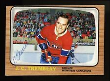1966 TOPPS USA TEST #5 J.C. TREMBLAY SIGNED AUTOGRAPHED HOCKEY CARD PROBABLY 1/1