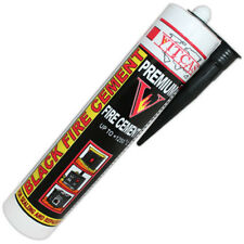 More details for vitcas black fire cement cartridge 1250c 310ml heat resistant to 1250°c / 2280°f