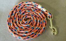 Nylon Poly Miniature Horse or Pony Lead Rope Usa Made- multi/orange