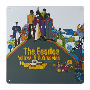 The Beatles YELLOW SUBMARINE Metal Wall Sign Retro Tin Steel Plaque Gift