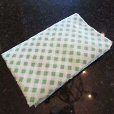 Dan River Dantrel No Iron Muslin Vintage Green White Check Twin Fitted Sheet