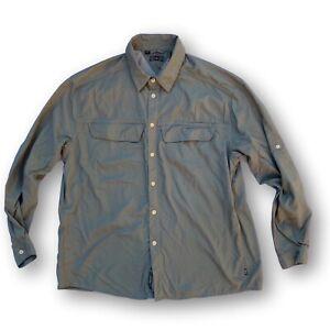 REI Men's XL Green Nylon / Mesh Vented Hiking Performance Shirt