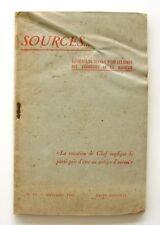 Sources n°14- 1942 - Chantiers de la Jeunesse - Vétraz Monthoux - rare