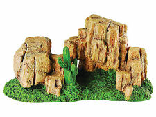 Rock Hill with Moss Reptile Terrarium Vivarium Ornament Decoration