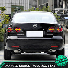 New For Mazda 6 Atenza LED Taillights Dark LED Rear Lamps Quality 2003-2015