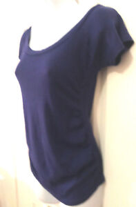Belly by design Blue Maternity Top T shirt Womens Size Small