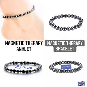 Range of Weight Loss Black Stone Light Magnetic Therapy Bracelet or Anklet