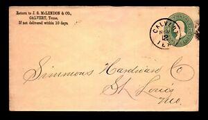 Circa 1878 Calvert TEX Crisp CDS Cover - L24692