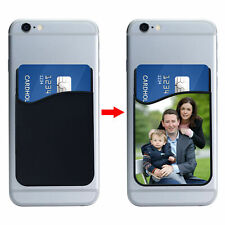 Personalised Silicone Mobile Phone Wallet Credit Card Stick Adhesive Holder