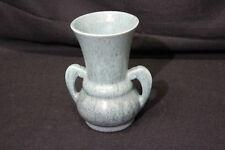 "Roseville Pottery Mottled Aqua Tourmaline Double Handled Vase #332-8"" EXCELLENT!"