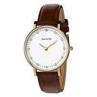 June & Ed Quartz Stainless Steel Women's Watch with Sapphire Crystal Dial Window