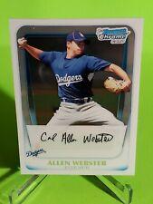 2011 Bowman Chrome Prospects #BCP89 Allen Webster Los Angeles Dodgers