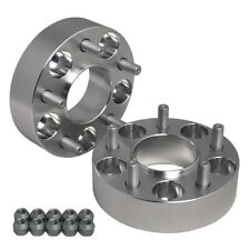 "Hub Centric 1.5"" (38mm) Wheel Adapters Spacers 5x100 FOR Chevy Chrysler Dodge"