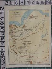 1926 mapa turístico indio India ~ Alicante ruinas de Vijayanagar templo de Krishna