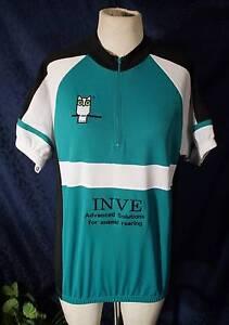 New Green & White FBT Short Sleeve Cycling Jersey Top Sz L