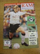11/11/1992 Derby County v Pisa [Anglo-Italian Cup] . Good condition unless previ