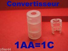 Convertisseur de Piles ou Accus AA en C Adaptateur r6 lr6 R14 Lr14 14500 Adaptor