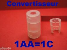 Convertisseur de Piles ou Accus AA en C Adaptateur Li-ion Lifepo4 14500 Adapter