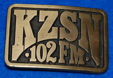 KZSN 102 FM Belt Buckle, Complete & Functional