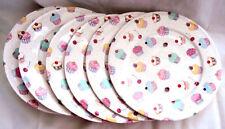 "Fairy Cupcakes Plates Set of 8 Fine Bone China 10.5"" (27 Cm) Hand Decorated UK"