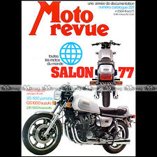 MOTO REVUE N°2334 YAMAHA XS 1100 ★ SPECIAL SALON 1977 ★ CATALOGUE INTERNATIONAL