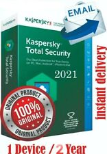 Kaspersky Total Security 2021 1 PC 2 ANNI