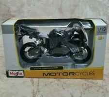 2018 Maisto Honda CBR 1000RR Black Motorcycle 1/12 Model  NEW
