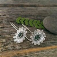 Fashion Boho Big Flowers Ear Stud Earrings Women Wedding Bridal Jewelry Gifts