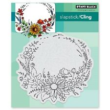 PENNY BLACK RUBBER STAMPS SLAPSTICK CLING FLOWER EMBRACE NEW cling STAMP