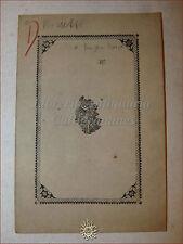RISORGIMENTO, Lettera di Serafino Rossetti 1853 Fabriano Bigonzetti (Garibaldi)