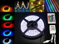 STRISCIA A LED SMD 5050 300LED 5 METRI STRIP RGB BOBINA LUCE MULTICOLOR + COLORI
