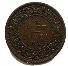 1921 Britsh India 1/2 Half Pice Coin King George V World Collector Coin 15390