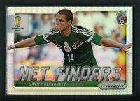 2014 JAVIER HERNANDEZ PANINI PRIZM FIFA WORLD CUP SILVER NET FINDERS