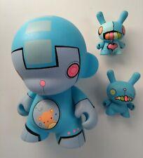 "Kidrobot Squidnik CUSTOM 3"" DUNNY x 2   7"" MUNNY VINYL ART FIGURE janky pop"