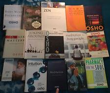 OSHO Library Lot of 15 Books On Yoga ~ Meditation ~ The Tao ~ Zen ~ Sex ~ Love