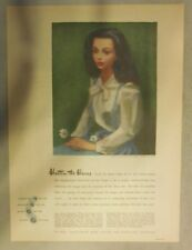 De Beers Diamonds Ad: Hasten The Hour ! Tabloid Page from 1940's