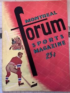 10/13/1956 Montreal Canadiens Boston Bruins opening night program FInals Preview