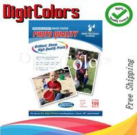 8.5 X 11 Premium Glossy Photo Paper 220GSM 11MIL 98 Brightness 100 Shts