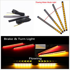 Pair Dual Colors Red/Amber Car Turn Signal (Yellow Light)+Brake Light(Red light)