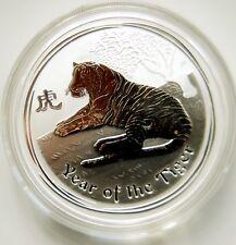 2010 Australia Lunar Tiger $1 One oz Silver Coin