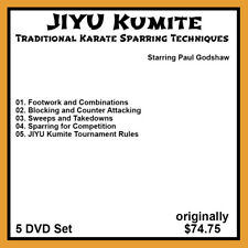 Paul Godshaw's Jiyu Kumite Tradicional Karate Combate Serie (5 DVD Juego)